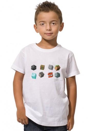 Camiseta Minecraft Cubos