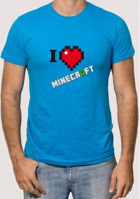Camiseta I love Minecraft