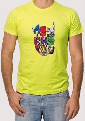 Camiseta Puzle Súper Héroes