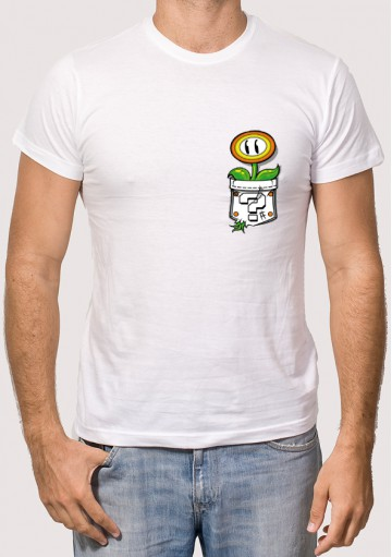 Camiseta Bolsillo Flor