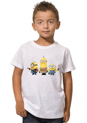 Camiseta Minion Cartel Nombre