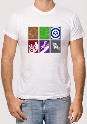 Camiseta Vengadores Símbolos
