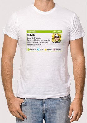 Camiseta Busco Novia