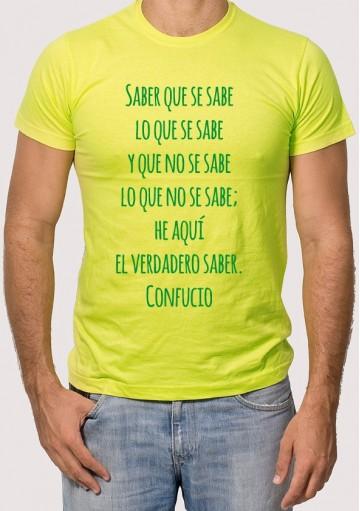 Camiseta Saber Confucio