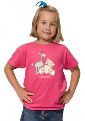 Camiseta Bebe Osito y Jirafa