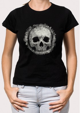 Camiseta Calavera Hilos