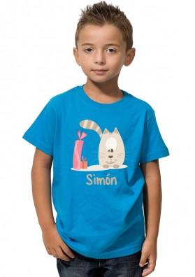 Camiseta Niño Gatito Regalo
