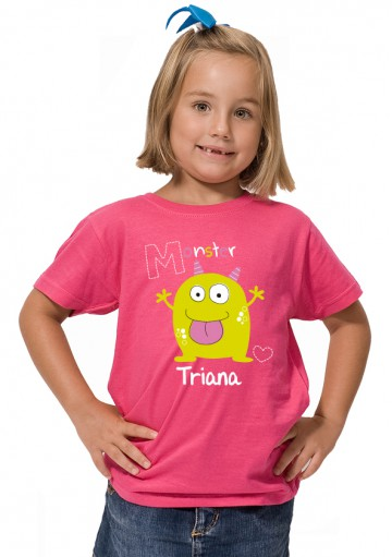 camiseta Monster Nombre
