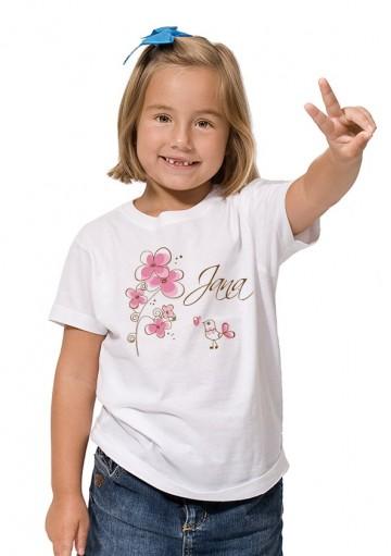 Camiseta Flor Elegante Niña