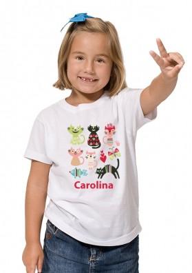 Camiseta Gatos Personalizada