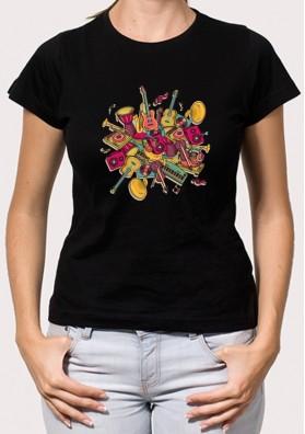 Camiseta Musica Retro
