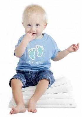 Camiseta Huellas Bebé con Nombre