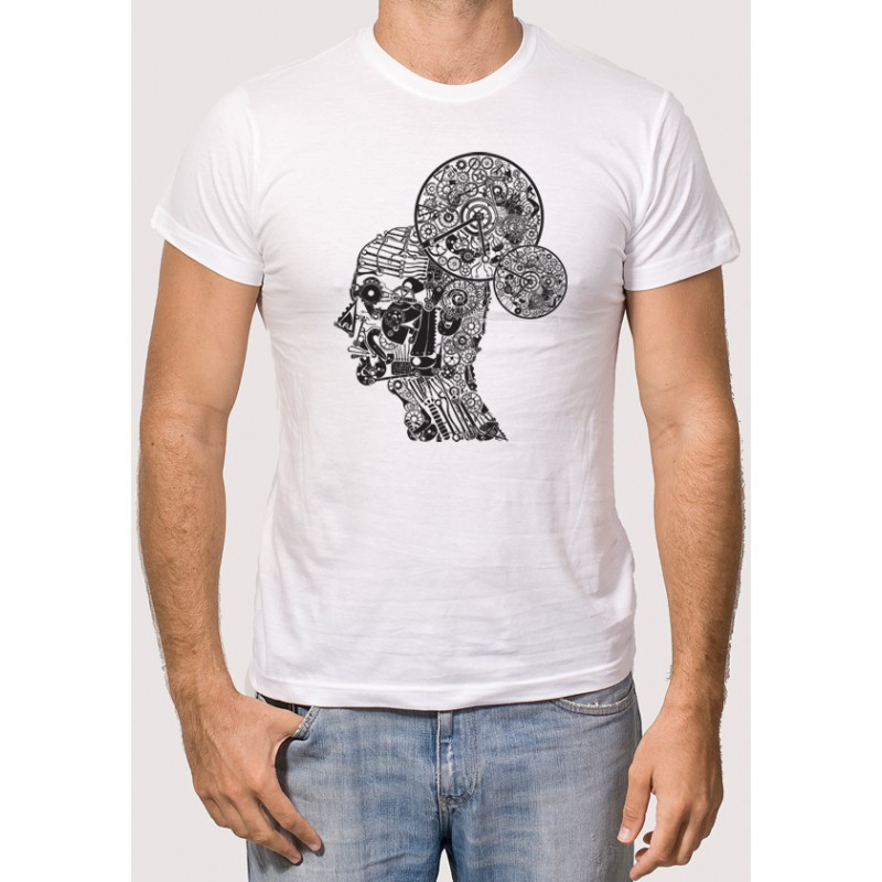 Camiseta hombre engranajes camisetas para for Camisetas de interior hombre