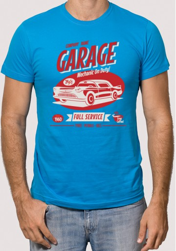 Camiseta coche garaje retro