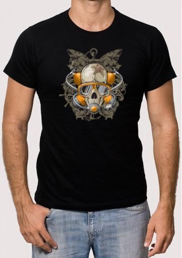 Camiseta calavera buceo