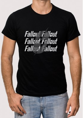Camiseta Logo Fallout Rayo