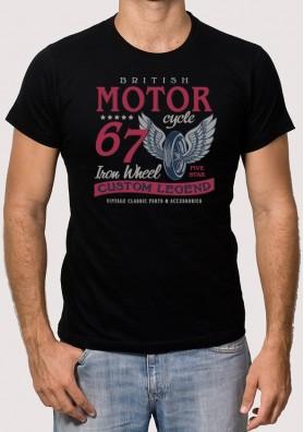 Camiseta Moto Rueda Alas