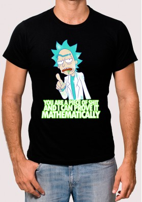 Camiseta de Rick y Morty Piece of shit