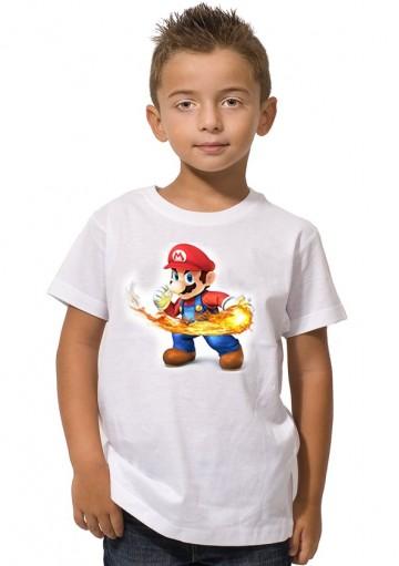 Camiseta Mario fuego