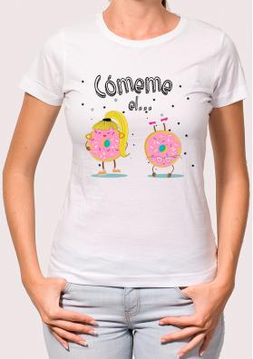 "camiseta para mujer \""Comemé el ...donut\"""