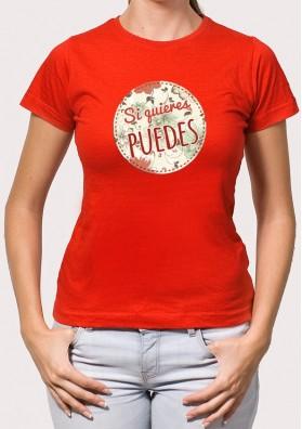 Camiseta si quieres puedes