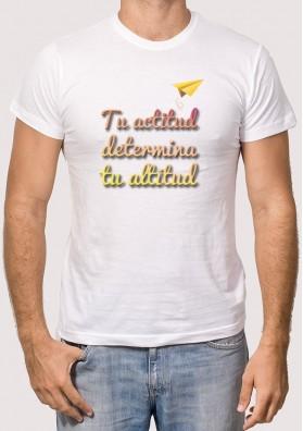 Camiseta tu actitud determina