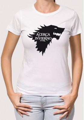 Camiseta Juego de Tronos Casa Stark
