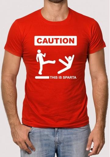 Camiseta Caution This is Sparta