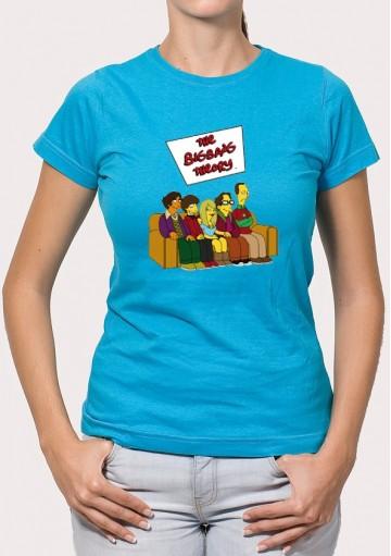 Camiseta The big bang sofá Los Simpson