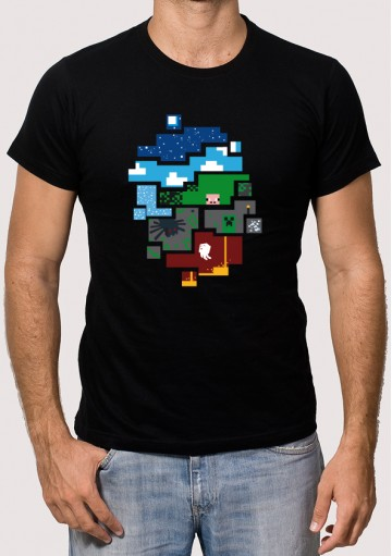 Camiseta Mundo Minecraft