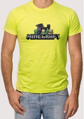 Camiseta Minecraft Logo personajes