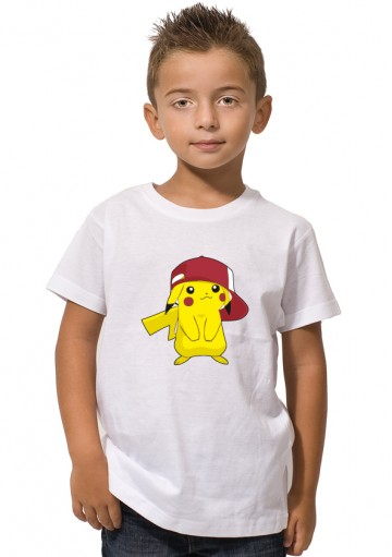 Camiseta Pikachu gorra