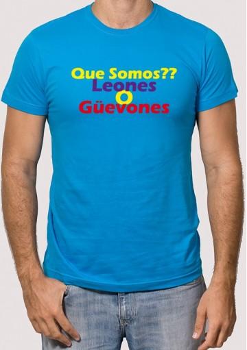 Camisetas Leones o Huevones