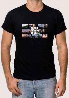 Camiseta GTA 5 Collage